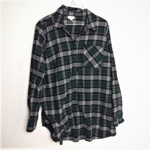 Isabel Maternity XL Plaid Popover Shirt Flannel